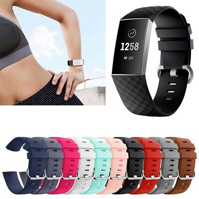 Silicone Porous Watch Band Bracelet Wrist Strap Replacement For Fitbit Charge 3