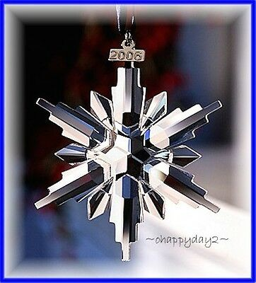 2006 Swarovski~Snowflake STAR Annual Christmas ORNAMENT~NEW~w/ Box &  Certificate - 2006 SWAROVSKI~SNOWFLAKE STAR Annual Christmas ORNAMENT~NEW~w/ Box