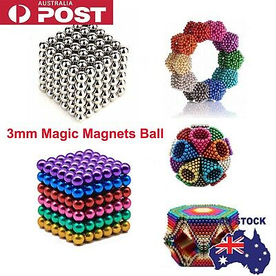 216 Pcs 3mm Magic Magnets Ball Neodymium Sphere 3D Puzzle Cube Stress Relie