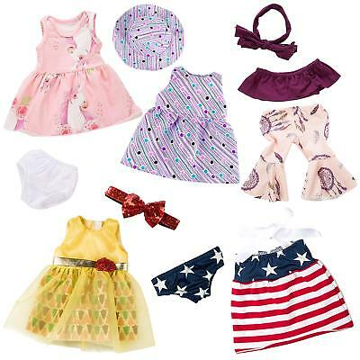 """5Set For America 18"""" inch Girl Doll Casual Clothes Wear Dress Skirt Outfit Gift"""