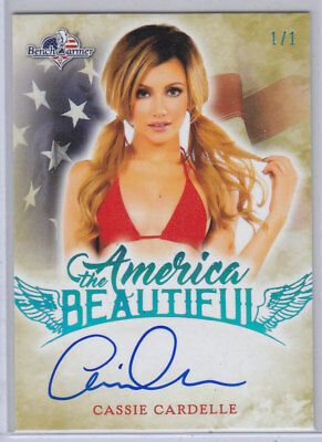 2017 Benchwarmer America The Beautiful Cassie Cardelle Ice Blue Autograph /1 1/1
