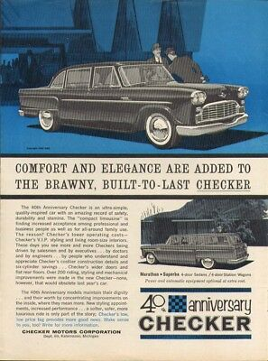 Checker 40th Anniversary car ad 1962