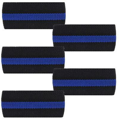 """Rothco Thin Blue Line 7/8"""" Mourning Band, Police/Law Enforcement Support, 5-Pack"""