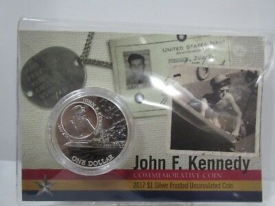 $1 Jfk Solomon Islands Silver Coin In Coz Frosted Uncirculated 1 Ounce 999% Pure