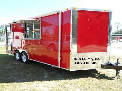 NEW 2019 8.5x20 8.5 x 20 Enclosed Concession Food Vending BBQ Serving Trailer