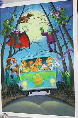 Limited Edition Scooby Doo Count Frankenstein Serial Lithograph Rare 2004