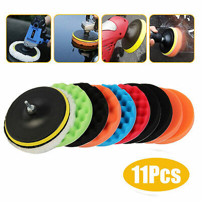 11Pcs 7'' 180mm Waxing Buffing Polishing Sponge Pads Car Polisher New