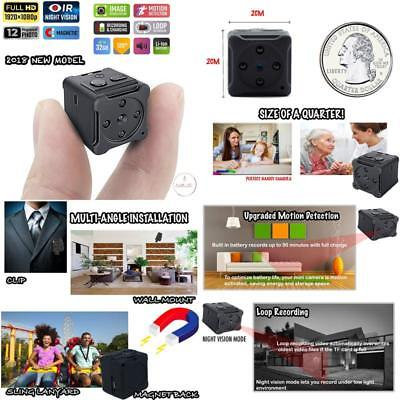 1080P Mini Portable Spy Hidden Camera Security With Night Vision And Motion Dete