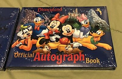Disney Disneyland Official Autograph Book Goofy Pluto Mickey Donald Minnie NEW