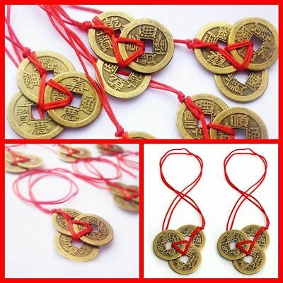 Chinese Feng Shui Coins for Wealth and Lucky Brass Money Coin Auspicious Amulet