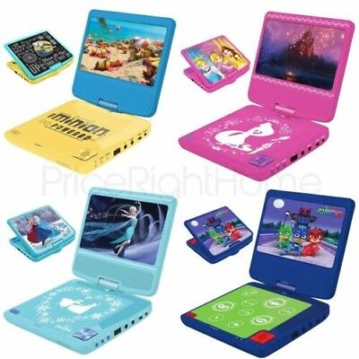 Kids Portable Dvd Player - Frozen, Avengers, Paw Patrol, Finding Dory, Peppa Pig