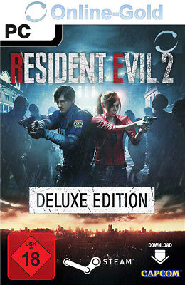 Resident Evil 2 Remake Deluxe Edition Key - STEAM Download Code PC Spiel DE/EU