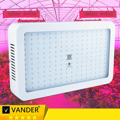 Hydro 2X 2000W LED Grow Light Full Spectrum Plant Grow Bloom Hydroponic Medical