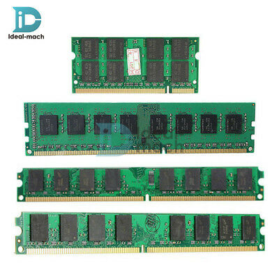2GB/4GB DDR2 DDR3 PC2-5300 U 667/800/1600MHZ 200/240Pin Memory RAM PC Desktop