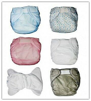 2 pcs*Haian  Adult   Incontinence PVC  diaper/Cotton lining New #PDM01