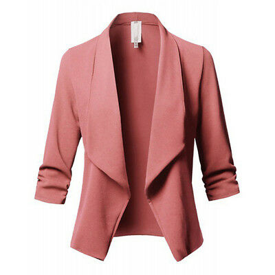 Casual Women Slim Suit Blazer Coat jacket Office Work Long Sleeve Outwear Tops Z