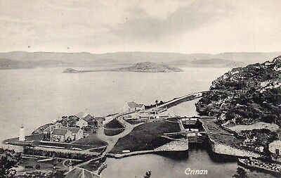 Vintage Postcard.crinan Village And Canal Lock.scotland.
