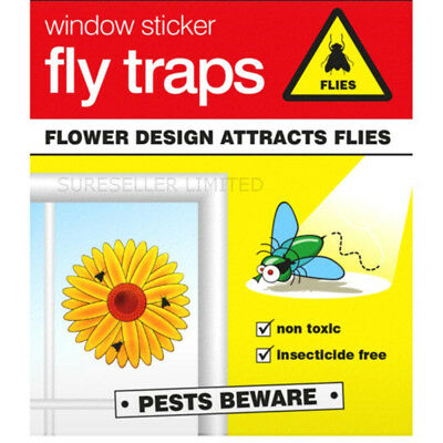 Fly Trap Insect Insects Killer Bug Flower Window Sticker Fly Glue Sticky Traps