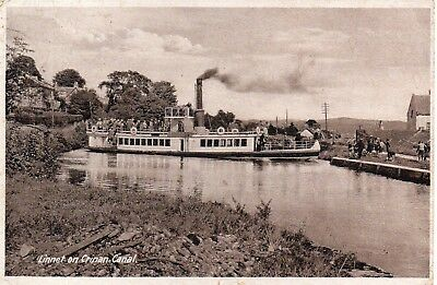 Vintage Postcard.s.s.linnet On The Crinan Canal.scotland.