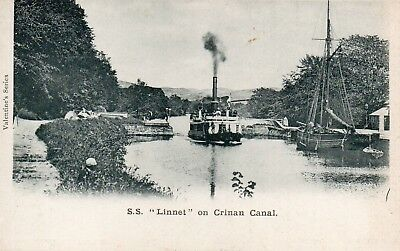 Vintage Early Postcard.s.s.linnet On The Crinan Canal.scotland.