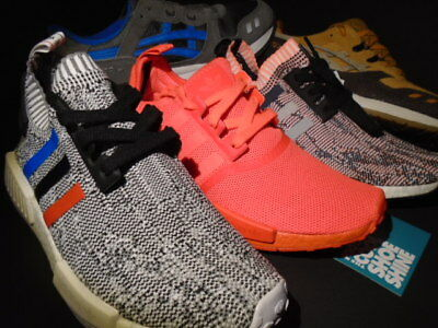 5 Shoes Display Adidas Nmd R1 Tri Color Solar Red Asics Gel-Lyte Iii 3 7.5 10.5