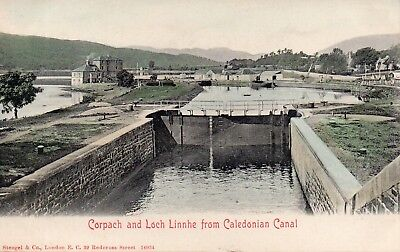 Vintage Early Postcard.corpach And Loch Linnhe From Caledonian Canal.scotland.