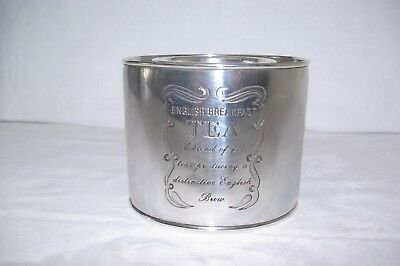 Liberty London Silver Plate English Breakfast Tea Caddy  Early 20th Century