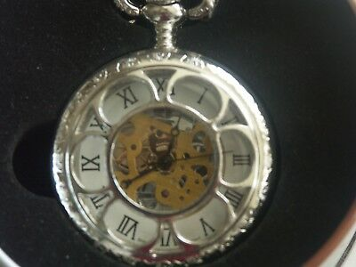 Kansas City Rr Pocket Watch & Chain Inspired In 1874 Can Made In Singapore
