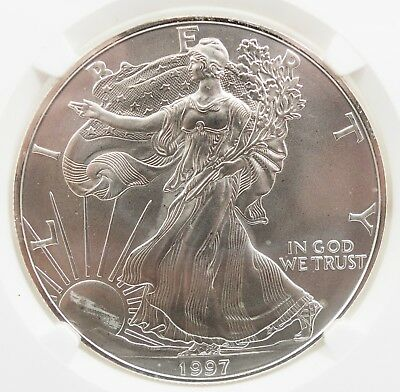1997 American Silver Eagle ASE 1 oz S$1 NGC MS 69 C514