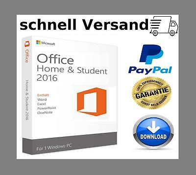 Microsoft Office 2016 Home and Student ✔1PC ✔32 / 64 Bits ✔Schnell Versand