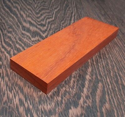 Pair of Padauk wood Scales for Knife Handle Making Blanks Crafts 14x40x140mm