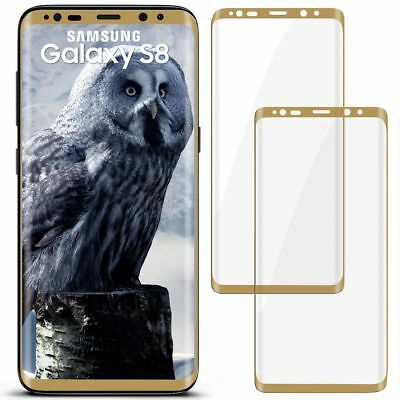 2x 3D Panzer Glasfolie für Samsung Galaxy S8 aus Hart Glas Curved Full Screen