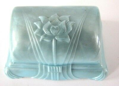 Vintage Art Deco Plastic Floral Ring Box G. L. Ruff Jewelers Johnstown Pa * Nice