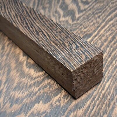 Block of Wenge wood for Knife Handle Making Blanks Crafts 30x30x122mm