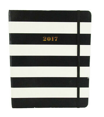 "KATE SPADE ""SET THE STAGE"" Stripe Linen 12 Month Agenda 2017 Book Msrp $30.00"