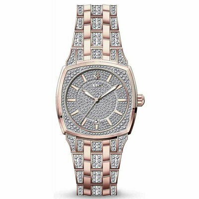 Bulova Men's Two Tone Rose Gold and Silver Stainless Steel Quartz Watch 98B324