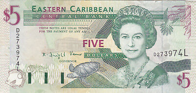 10 Dollars Ef Banknote From  Eastern Caribbean/st Lucia 1994!pick-31I