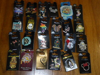 AUTHENTIC Disney Trading Pins Lot 25 No Duplicates New On Cards D