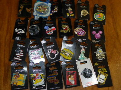 AUTHENTIC Disney Trading Pins Lot 25 No Duplicates New On Cards K