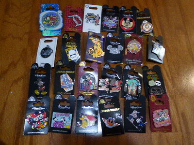 AUTHENTIC Disney Trading Pins Lot 25 No Duplicates New On Cards O