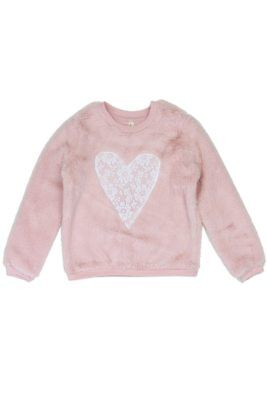 Girls love @ first sight 4-6x cozy pullover