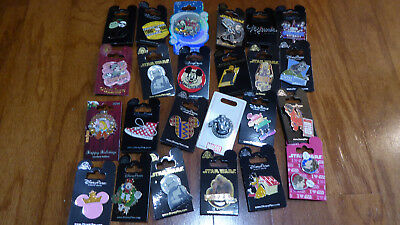 AUTHENTIC Disney Trading Pins Lot 25 No Duplicates New On Cards V