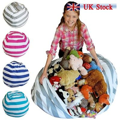 EXTRA LARGE Stuffed Animal Toy Storage Bean Bag Kids Bean Cover Soft Seat