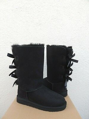 e5588d4ea16 UGG BAILEY BOW Triplet Sheepskin Boots, Youth 4, Fits Women's Us 6/ Eur 37  ~New