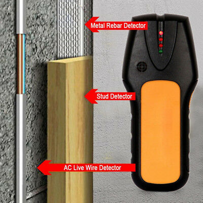 Intelligent Stud Scanner AC Live Wire Pipe Finder Wood Metal Detector Wall New