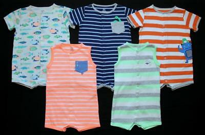 Boy 24 Months Carter's Cotton Summer Rompers Clothes Outfits Lot Free Ship