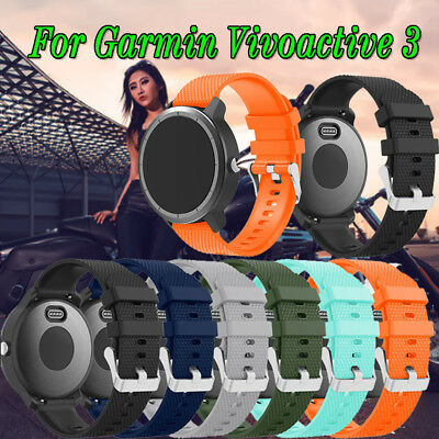 Fashion Sports Silicone Replacement Wirst Band Strap For Garmin Vivoactive 3