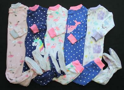Baby Girl 12 Months Cotton Carter's Sleepers Pajama Clothes Lot Free Shipping