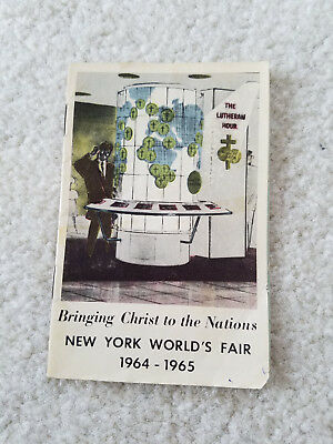 Vintage 1964 New York World's Fair NY Booklet Brochure Book Lutheran Hour Promo