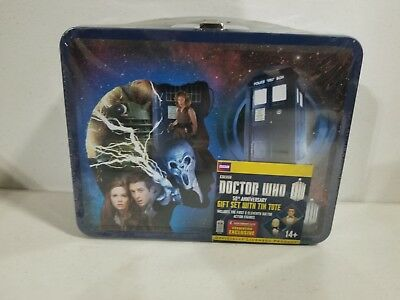 Doctor Who 50th Anniversary Gift Set Tin & First Eleventh Figures SDCC